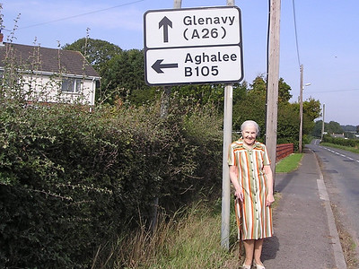 DPB-116: May (Maisie) Barr nee McKeown aged 87  revisting Aghalee in 2003