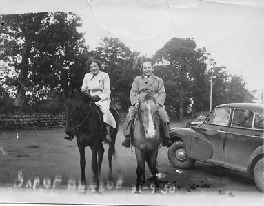 DPB-72: May (Maisie) McKeown and David (Davy) Barr at the Gap of Dunloe - a narrow pass between Macgillycuddy's Reeks and the Purple Mountains near Killarney in 1950