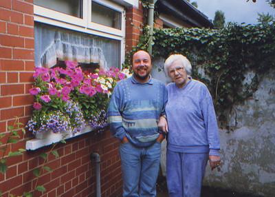 DPB-78: May (Maisie) Barr (nee McKeown) and David Barr Jnr at 187 Sandown Road, Belfast