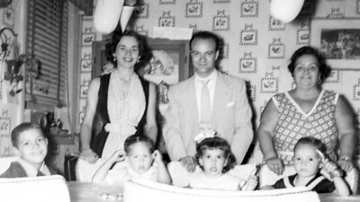 Lou, Marian and Francis mom with the kids 1951 (L-R) Francis nephew, Ralph, Victor's sister and Victor Gregorio