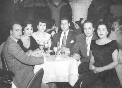 Celebrating at the famous El Morocco NYC in 1951.  Lt-Rt: my Uncle Lou and Aunt Marian, Ida and her date, Lou and Fran Gregorio