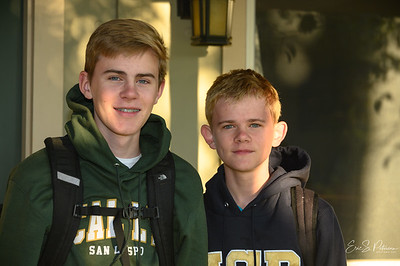 First Day of School.  Evan - 11, Liam - 9