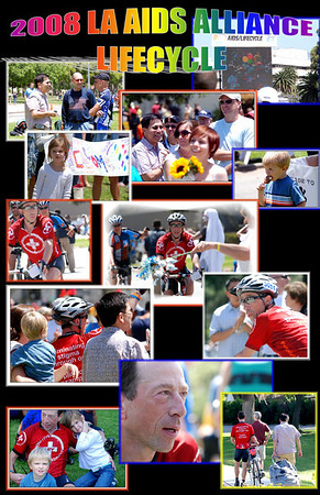 uncle kenny finishes the 2008 LA Aids Alliance Lifecycle Event 7 June 08