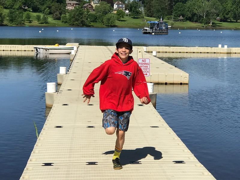 Carson having fun at the Cove!
