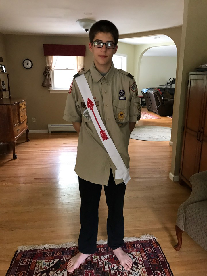 Austin was initiated into the Order of the Arrow !
