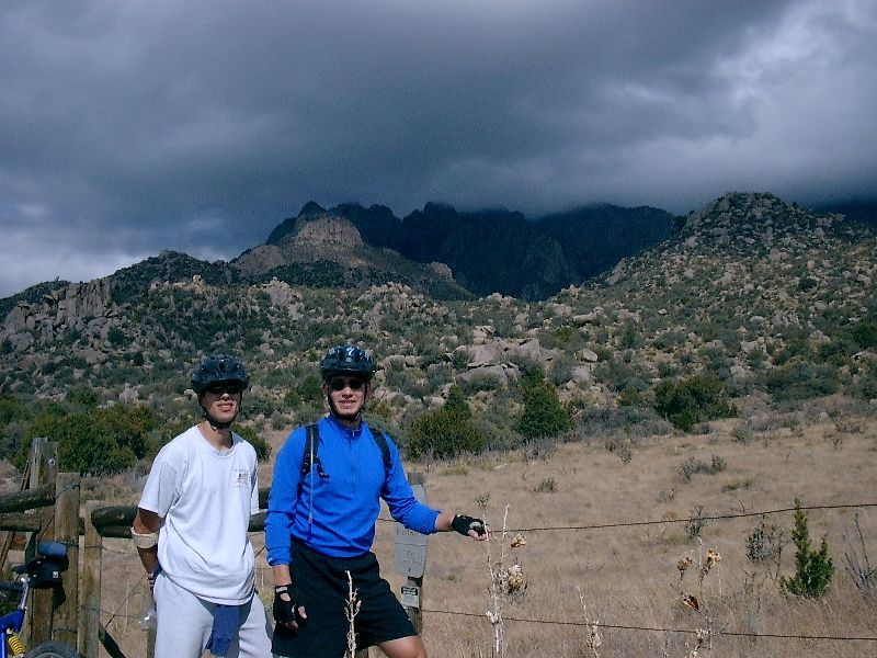 Nathanael and Matthew out enjoying the Sandia's.