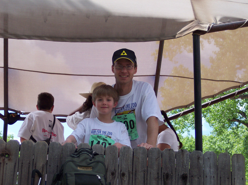 """Matthew & Ryan after """"Run for the Zoo"""""""