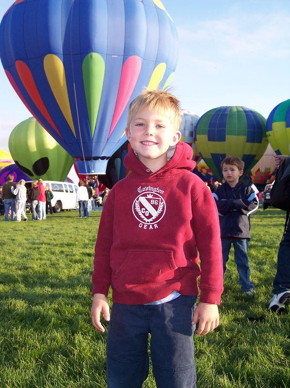Ryan at the Balloon Fiesta; Oct 2004