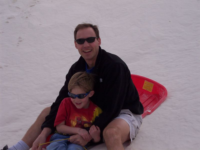 Ryan & Matthew at White Sands National Monument<br /> March, 2005