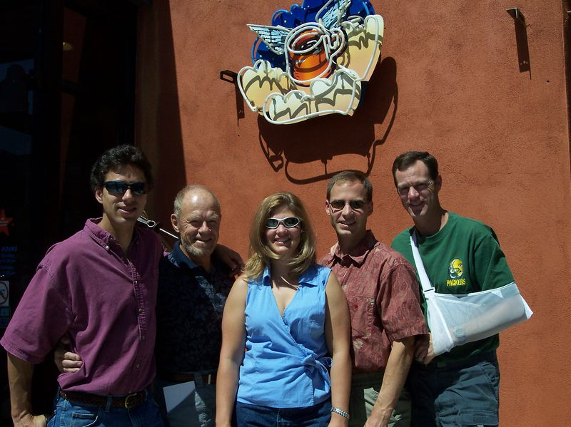 Nathanael, Richard, Mahli, Matthew, & Jon at Flying Star for Father's Day breakfast; June 2004