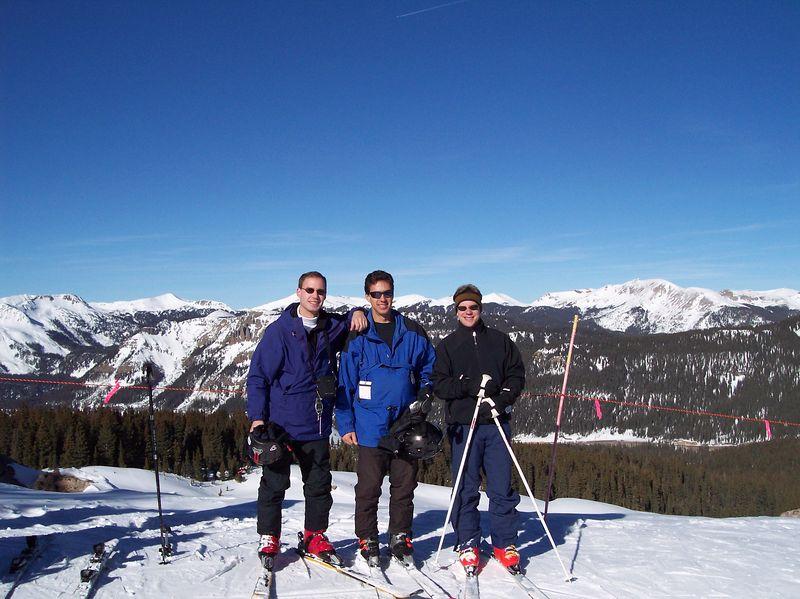Matthew, Nathanael, & David at Wolf Creek; Dec 2004