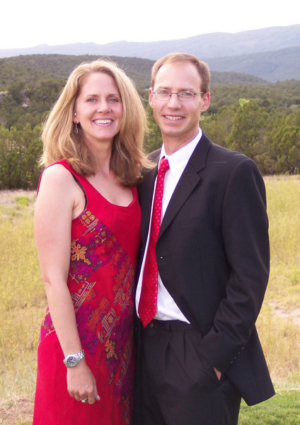 Matthew & Shannon at a wedding in the Sandia Mountains; July, 2007