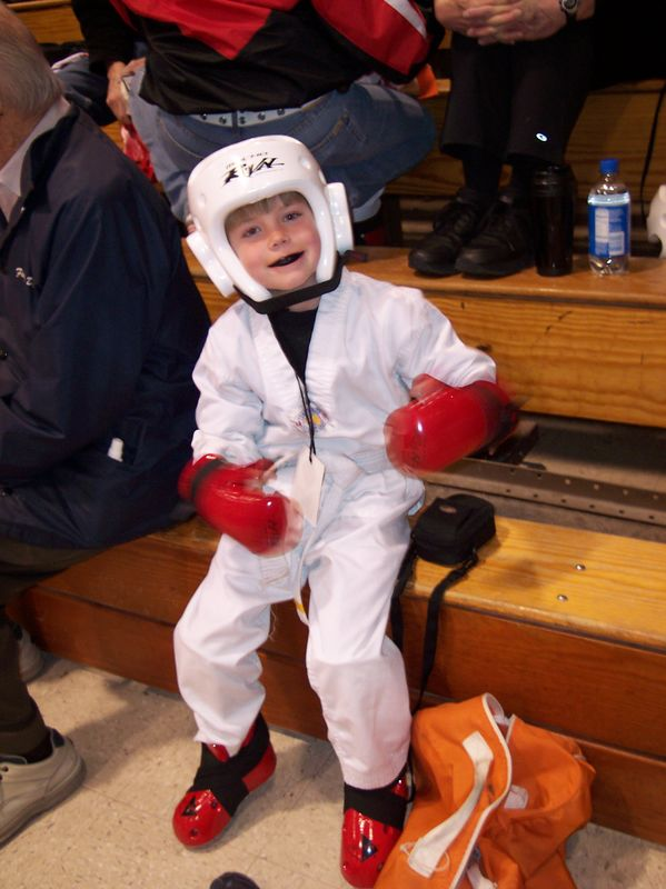 Ryan before his first Karate match; April 2nd, 2005