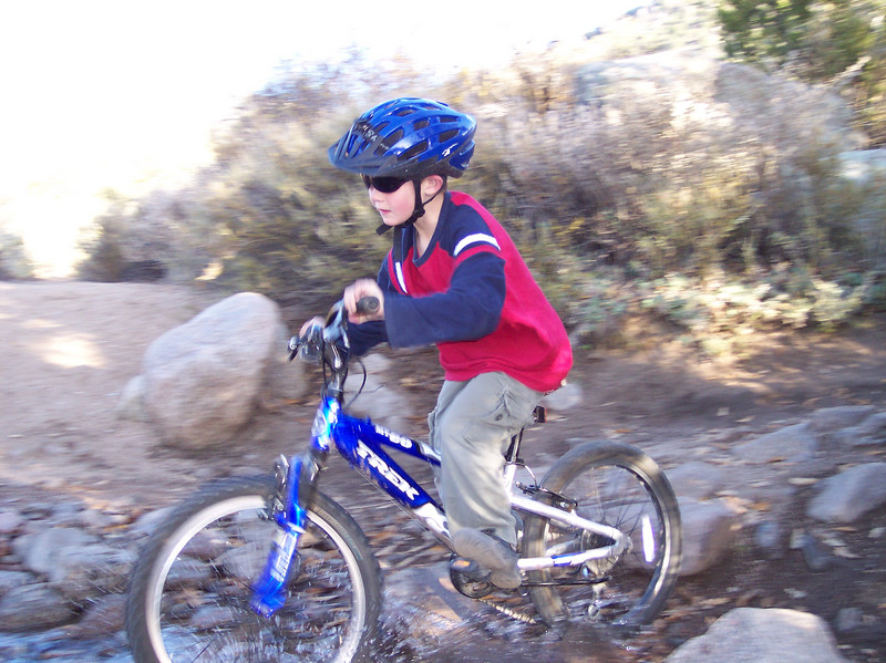 Ryan Mountain Biking in the Foothills of the Sandia Mountains (just East of ABQ); Nov 2006