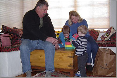 Papa Mike and Marmee with their little guys