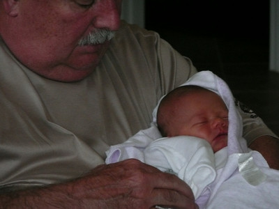 The Newest arrival...Baby Kate with Papa Mike