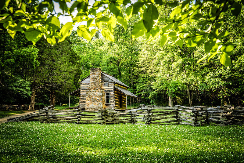 First stop in Cades Cove is John Olivers cabin