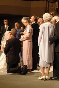 Nate & Malaika's wedding - Darlene & Clay giving their blessing