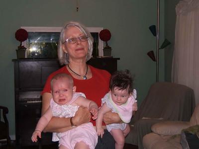 Darlene with her hands full - Kendra & Amelia Bomgaars