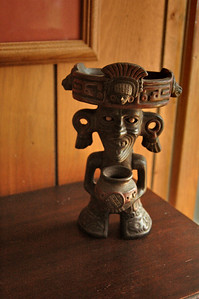 """This evil-looking idol is a family joke from our Mexico trip in 1965. My father was showing off his Spanish skills -- only to find he had been """"gyped"""" by a street vendor. We call this the """"gyp doll""""."""