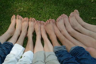 Beautiful feet! Which feet are Darlene's?