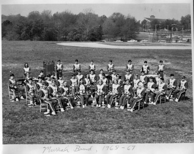 Murrah High School Band -- Clay is 1st chair clarinet at front left. (YES! The one with HAIR!) Seated next to me is my close friend Clark Ethridge.