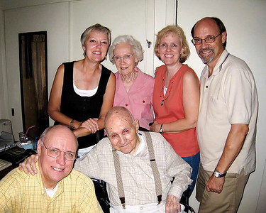 Joint Birthday at Mimi & Daddo's - Mimi & Daddo with 4 children
