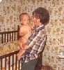 John A at 10 months with Mom after his bath