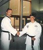 John A receiving black belt - July 1994