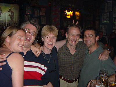 Copleys and Mike at Bronx bar - Sar, Andy, Kat, Simon and Mike