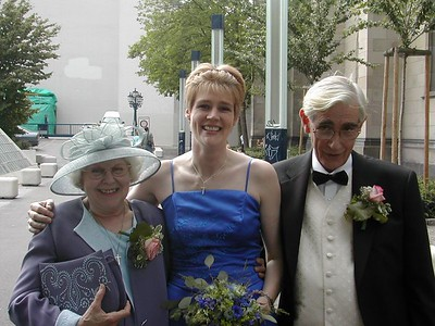 Mum & Dad and Kat at Sarah and Mike's wedding