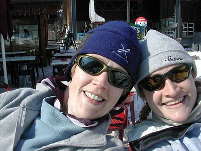 Kat and Sarah at Grands Montets