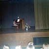 Christine at piano recital.<br /> Mrs. Uken was her piano teacher.<br /> June 1975
