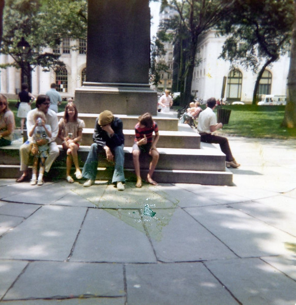 Gilbert? Seth, Christine, Soren, Eric<br /> Independence Square, Philadelphia, Pennsylvania<br /> 1976