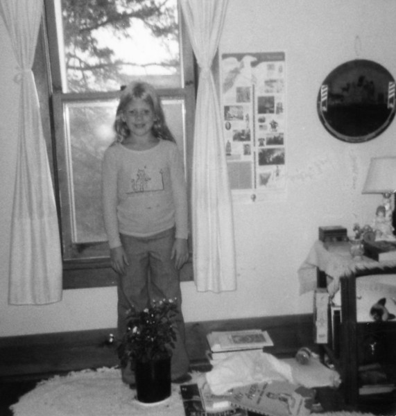 Shelly Janke in Christine's room at the Cottonwood House