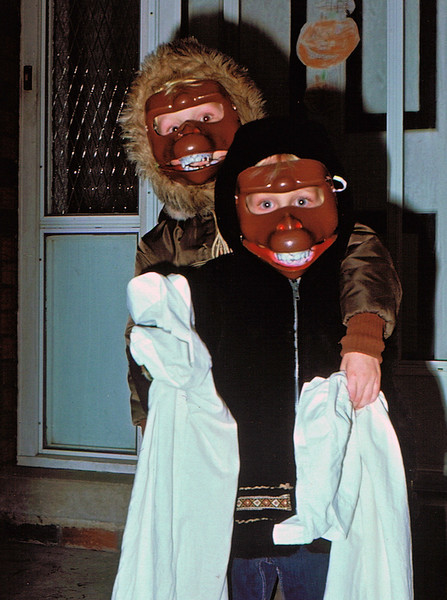 Boys dressed for Halloween