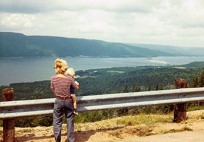 Heading east in Nova Scotia - Karen & 2 yr old Todd