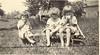 1924 Ruth, Ellen, Margaret on Wagon