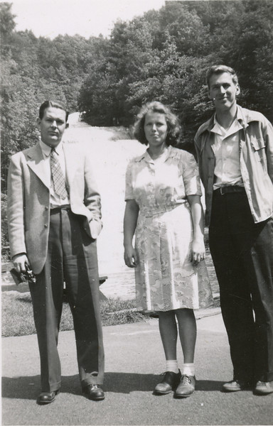 1944-06-10 with Dick Ryon at Buttermilk Falls, Ithica, NY