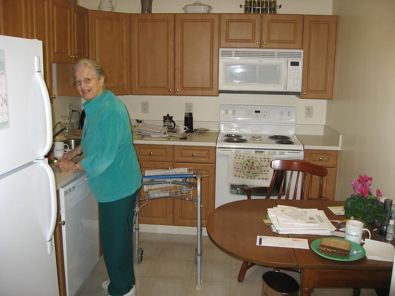 2006-12 IMG_1134 Ellen at home in Baldwin Court, Brooksby Village