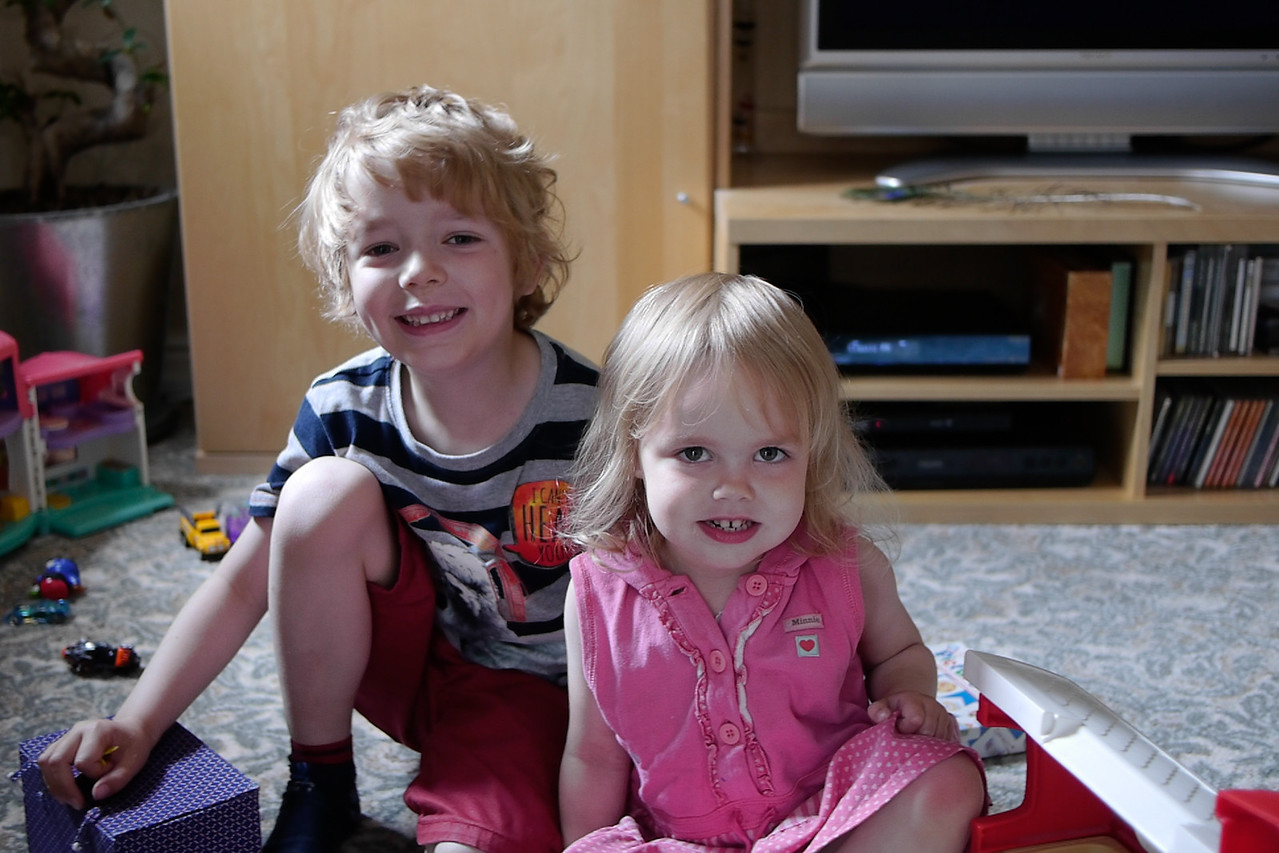 What a pair?? Woody with younger sister Oli