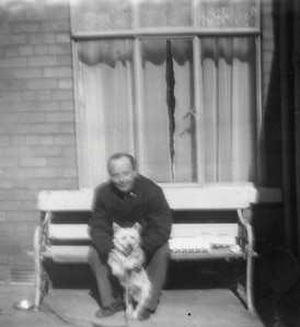 DPB-33: David Barr Snr with the dog Lucky 1960