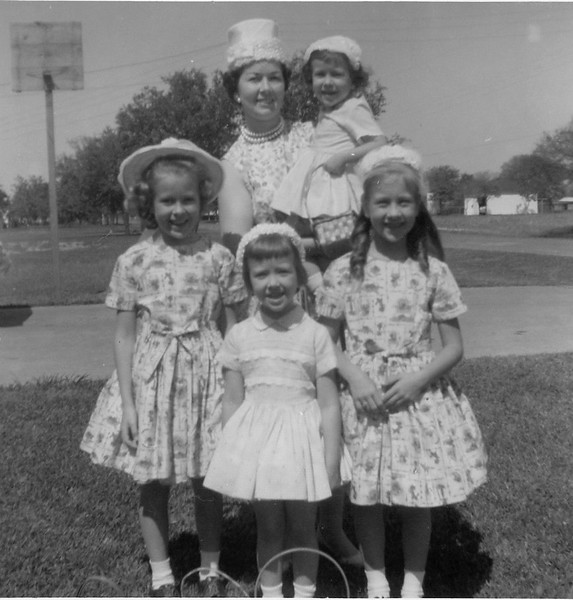 Easter, 1962 - Mom and her daughters