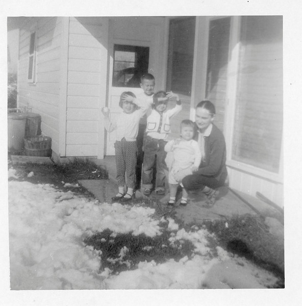 February, 1960- First time Kulcak kids experience snow!!!