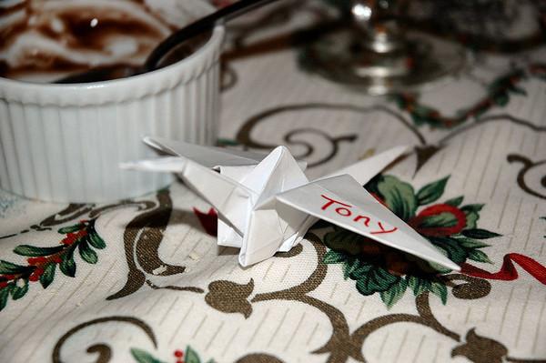 Origami Crane by Melanie