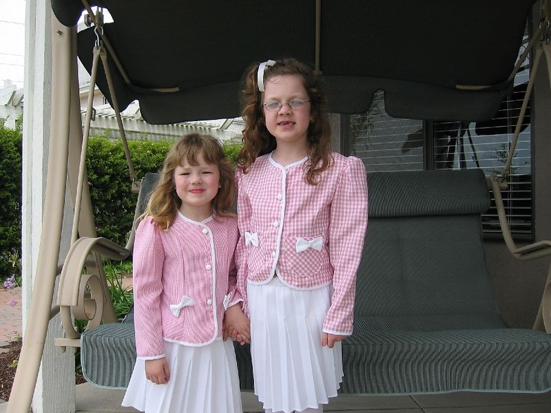 Easter go-to-church clothes.