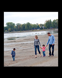 family on beach 8x10