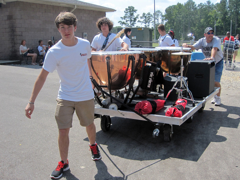 Benjie at Drum Line Clinic<br /> September, 2012