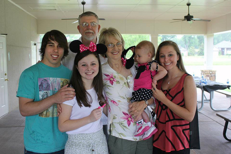 Brady Nichols with grandparents and cousins