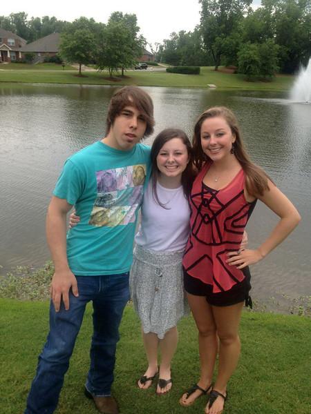 Brady Nichols with cousins - 2012
